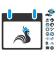 Rooster Calendar Day Icon With Bonus vector image vector image