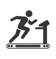 Running man on treadmill icon on white background