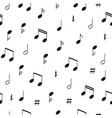 seamless music pattern with note vector image