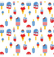 seamless pattern with patriotic ice cream vector image vector image