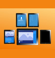 series modern digital devices electronic vector image