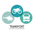 set transport icons design vector image