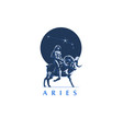 sign zodiac aries girl rides on ram vector image