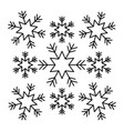 snowflakes christmas icons collection graphic vector image