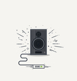 Speaker line icon vector image