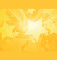 stars abstract rays yellow background vector image vector image