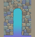 stone arch historical background medieval wall vector image
