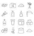 sugar cane line icon set icon sugarcane vector image vector image