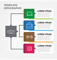 template business infographic elements vector image vector image