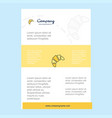 template layout for bun comany profile annual vector image vector image