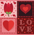 valentine decorations vector image