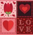 valentine decorations vector image vector image