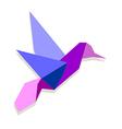 Vibrant colors Origami hummingbird vector image vector image