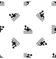 water polo pattern seamless black vector image vector image