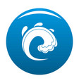 wave water tsunami icon blue vector image vector image