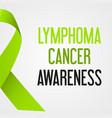 world lymphoma cancer day awareness poster eps10 vector image vector image