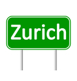 Zurich road sign vector image vector image