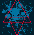 abstract with red triangles vector image