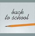 back to school notice vector image