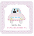 Just married - wedding car vector image