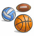 set of sport ball vector image