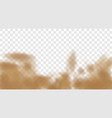 3d realistic dust cloud isolated on a transparent vector image vector image