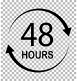 48 hours on transparent background 48 hours sign vector image vector image
