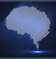 abstract glowing brain of line vector image