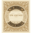 art-deco whiskey card vector image vector image