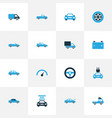 automobile colorful icons set collection of van vector image