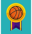 basketball medal icon vector image