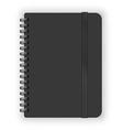 Black copybook vector image