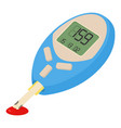 blood glucose measuring device icon cartoon style vector image
