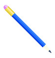 blue pencil icon flat style vector image