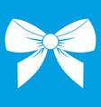 bow icon white vector image