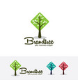 brand tree logo template vector image