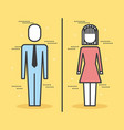 business people man and woman stand character vector image vector image
