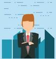 cartoon businessman design vector image vector image