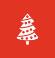 christmas tree icon new year and xmas christmas vector image vector image