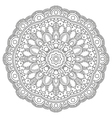 Circle floral pattern vector image vector image