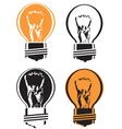 cool light bulb vector image vector image