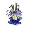 cute rabbit cartoon icon handmade baby vector image vector image