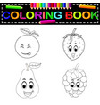 Fresh fruit with face coloring book