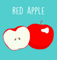 fresh red apples graphic vector image vector image