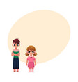 frowned kids boy arms crossed on breast girl vector image vector image