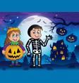 halloween costumes theme image 4 vector image vector image