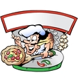 Hand-drawn of an Italian Pizza House vector image vector image