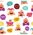 happy purim carnival with funny hamantashen vector image vector image