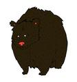 huge black bear comic cartoon vector image