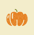 icon pumpkins stylized drawing with colored vector image vector image